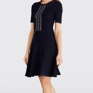 NWT Draper James XL Arrow Rib Knit Dress Navy